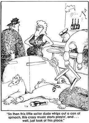 Image result for gary larson cartoons spinach