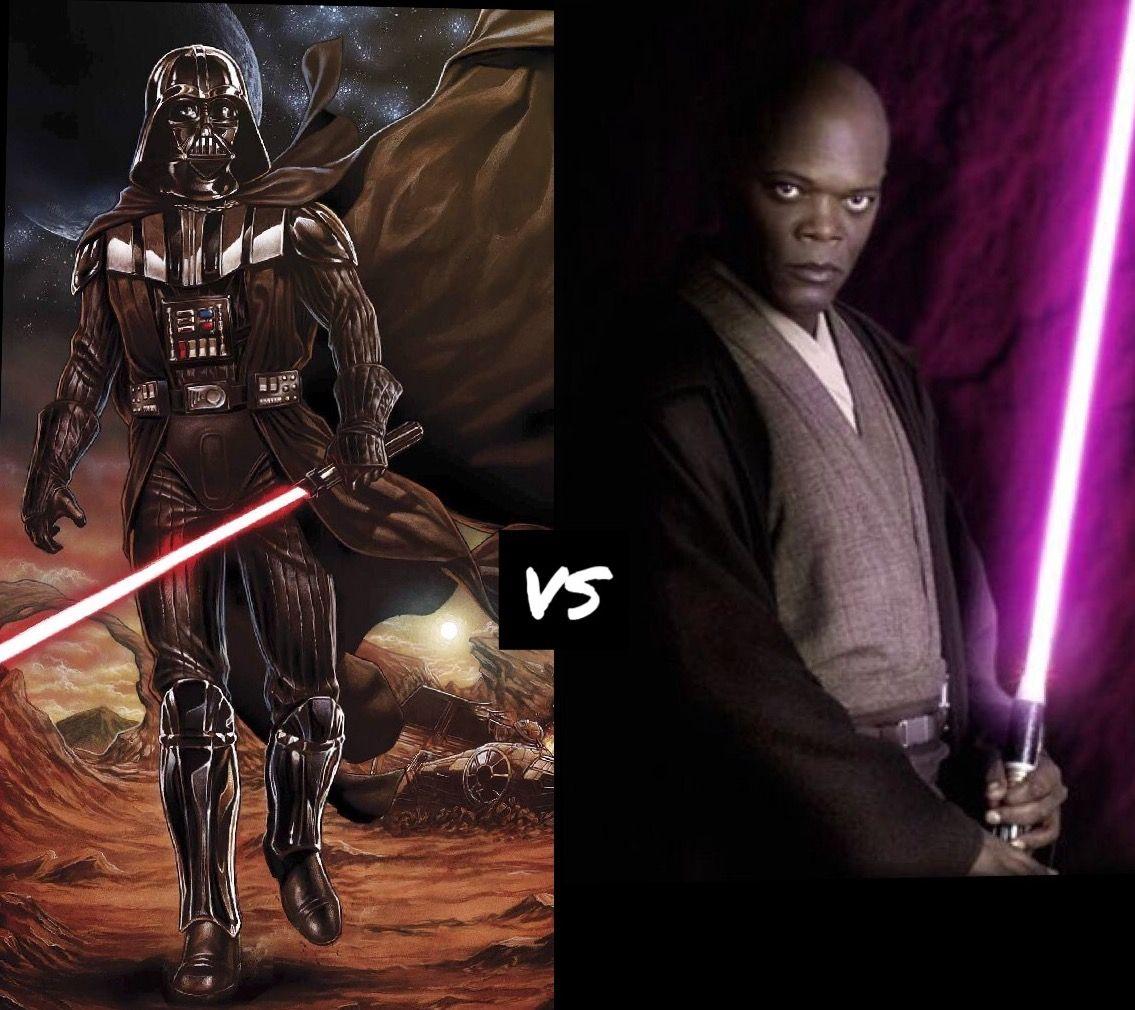 Star Wars Darth Vader Vs Mace Windu Comment Who You Think Would Win Star Wars Art Star Wars Darth Vader
