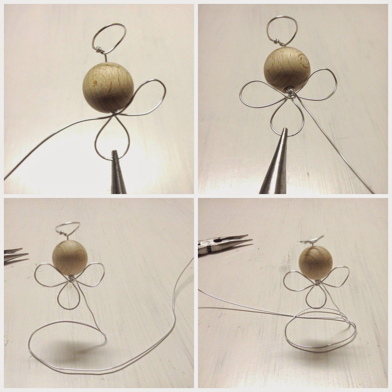 Tuto Ange En Fils Aluminium Christmas Diychristmas Ornamentswire