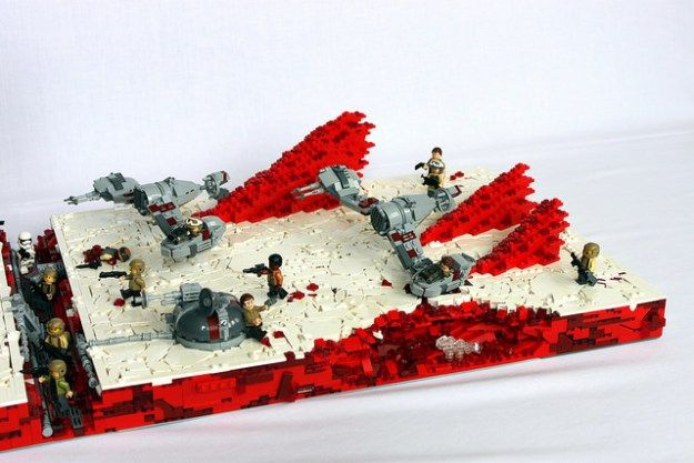 End the Resistance on the mineral planet of Crait | Lego star wars ...