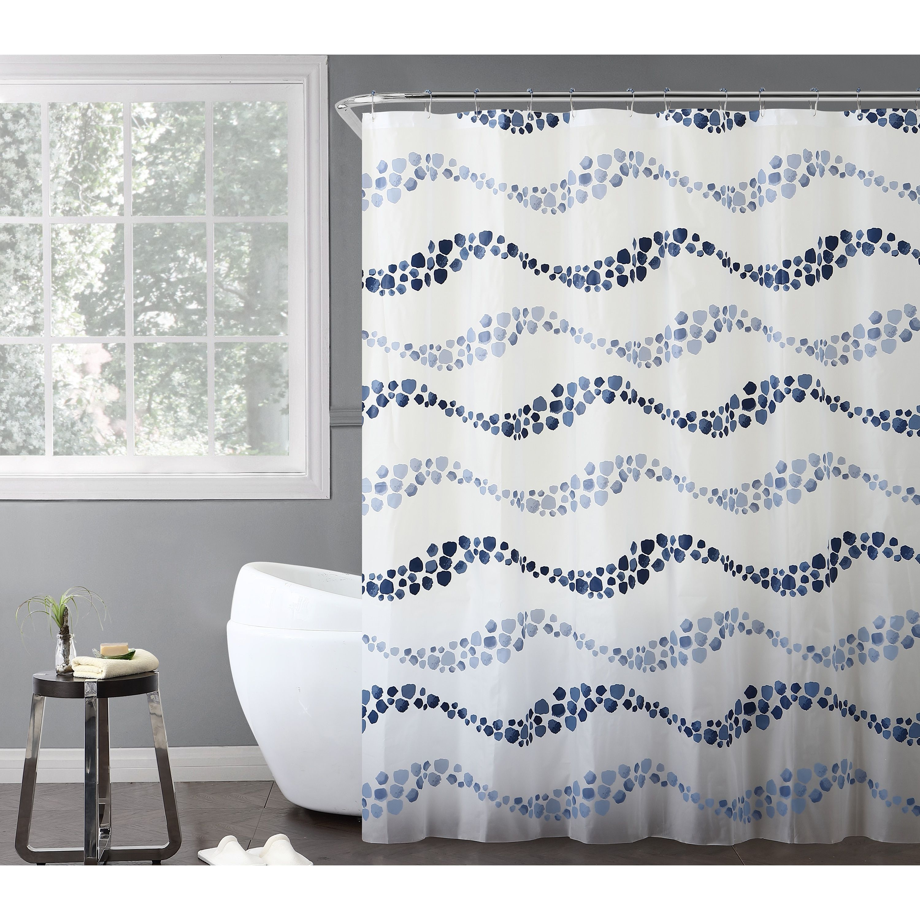 Vcny home dot wave shower curtain piece bath set products