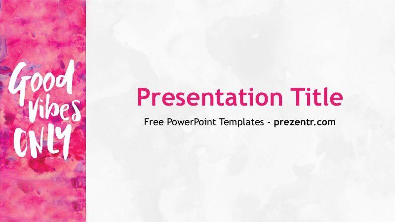 Free Good Vibes PowerPoint Template - Prezentr PPT Templates ...
