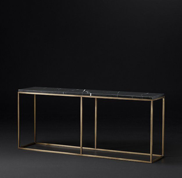 RH Modern's Nicholas Marble Console Table:Pairing Marble's