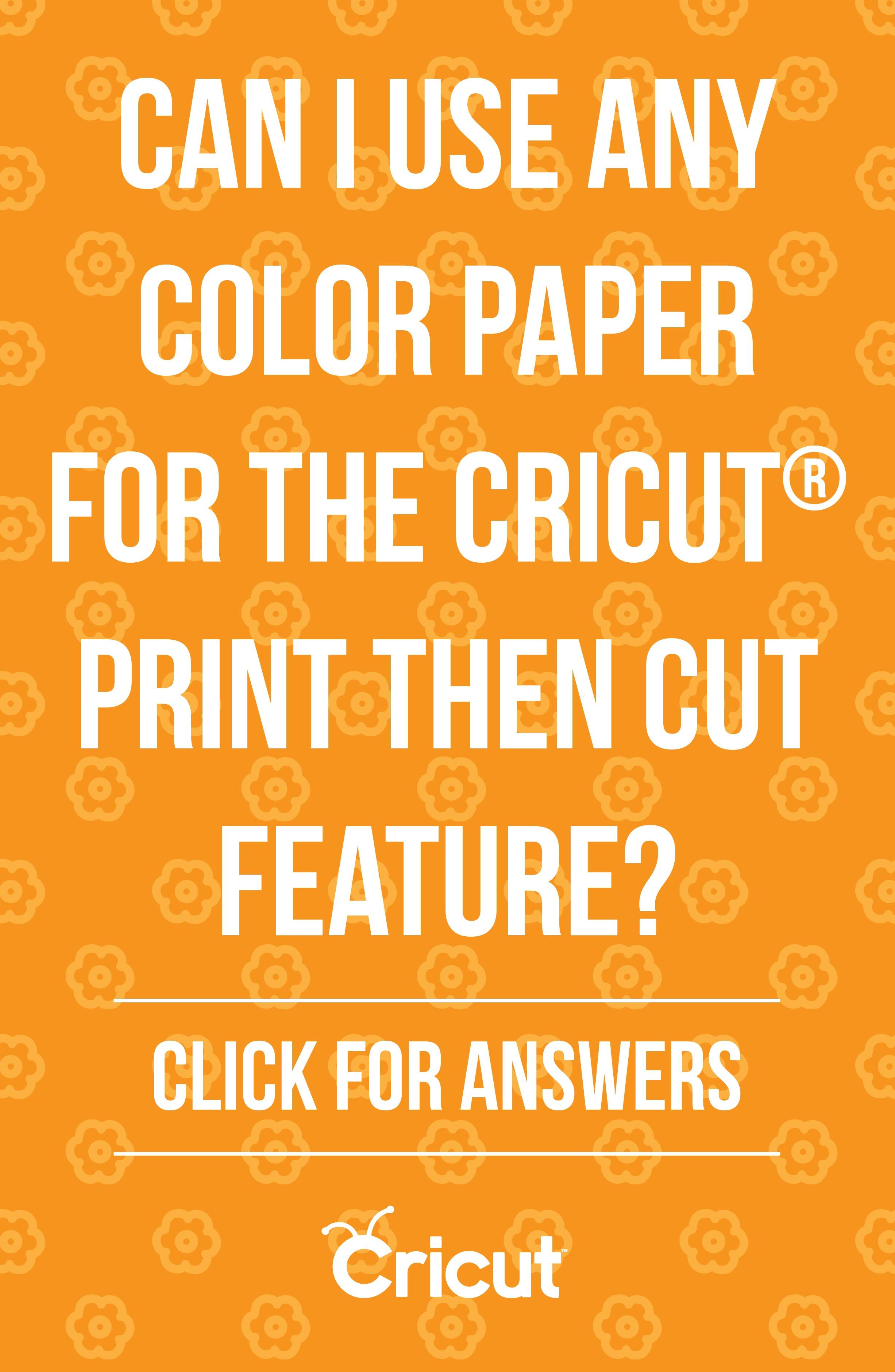 how to print and cut cricut