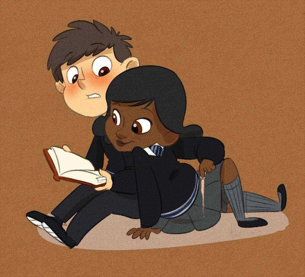 Young Wirt And Sara (Hogwarts, Gravity