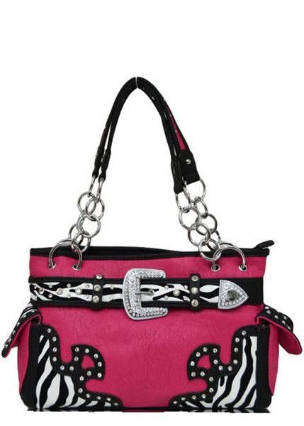 228471d7e256 ... Zebra Design and Buckle Decorated Handbag #country #cowgirl #print # purse #wallet #fashion #popular #boutique #style #trendy #womens #rhinestone  #bling