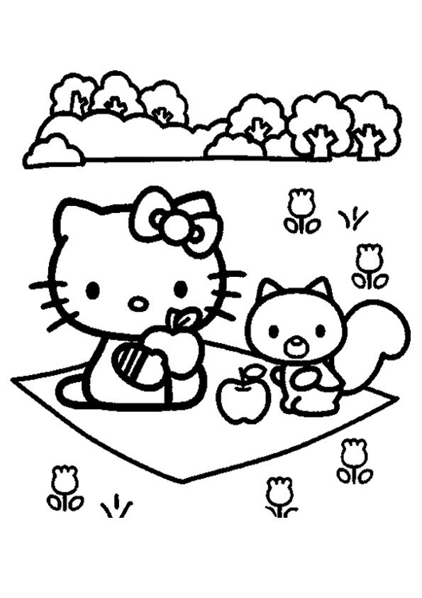 print coloring image - MomJunction   Hello kitty coloring ...