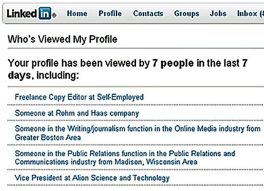 Who\u0027s viewed your Linkedin Profile More LinkedIn tips at   - Copy Editor Resume