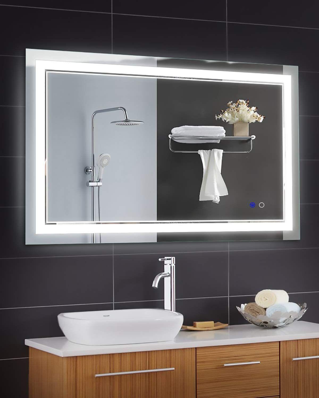 Keonjinn 40 X 24 Inch Anti Fog H Makeup Mirror With Lights Bathroom Mirror Bathroom Vanity Mirror