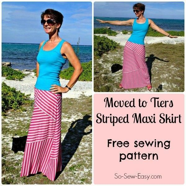 Moved to Tiers Maxi Skirt pattern | Klamotten | Pinterest | Rock ...