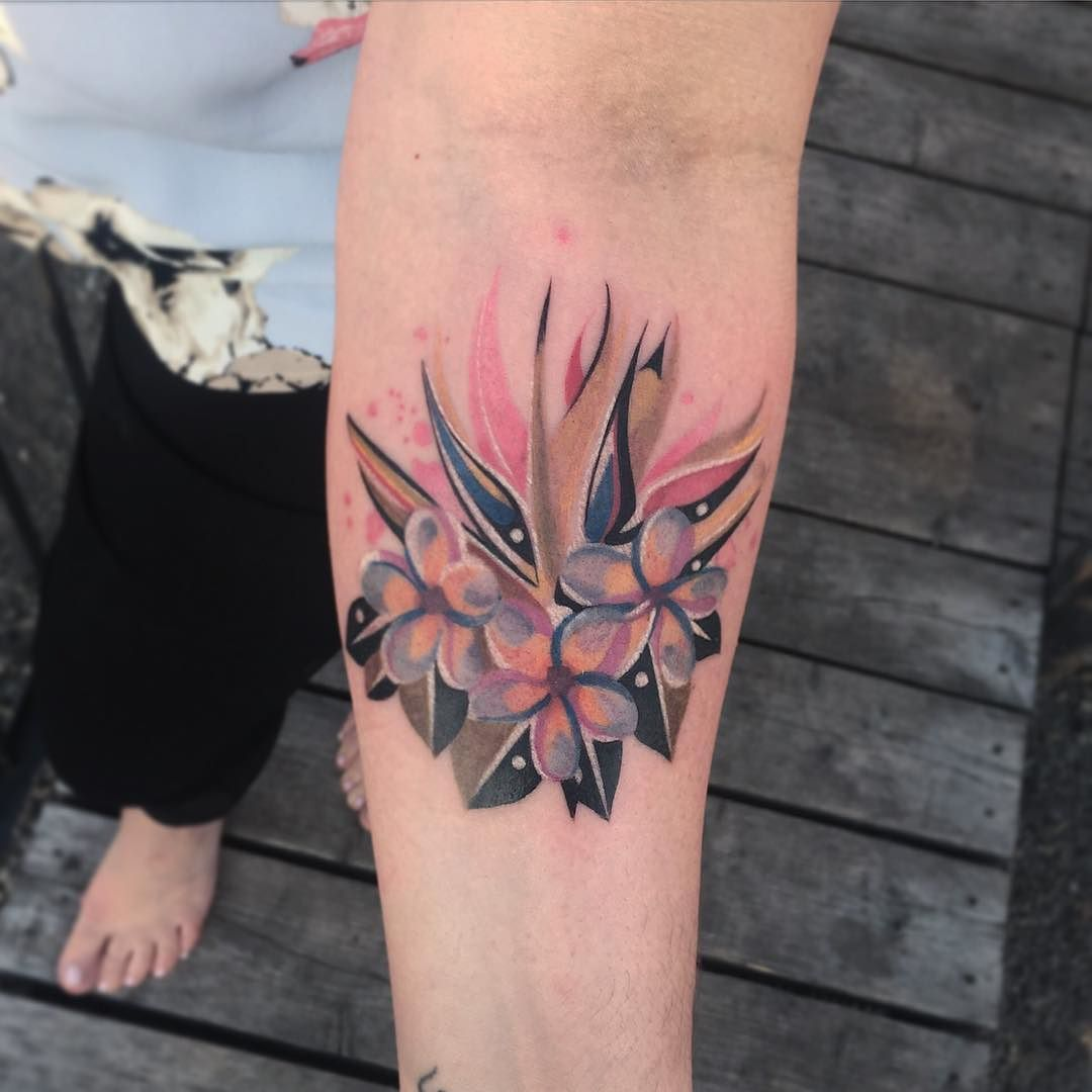 Flowers Tattoo Geometrictattoo Watercolortattoo