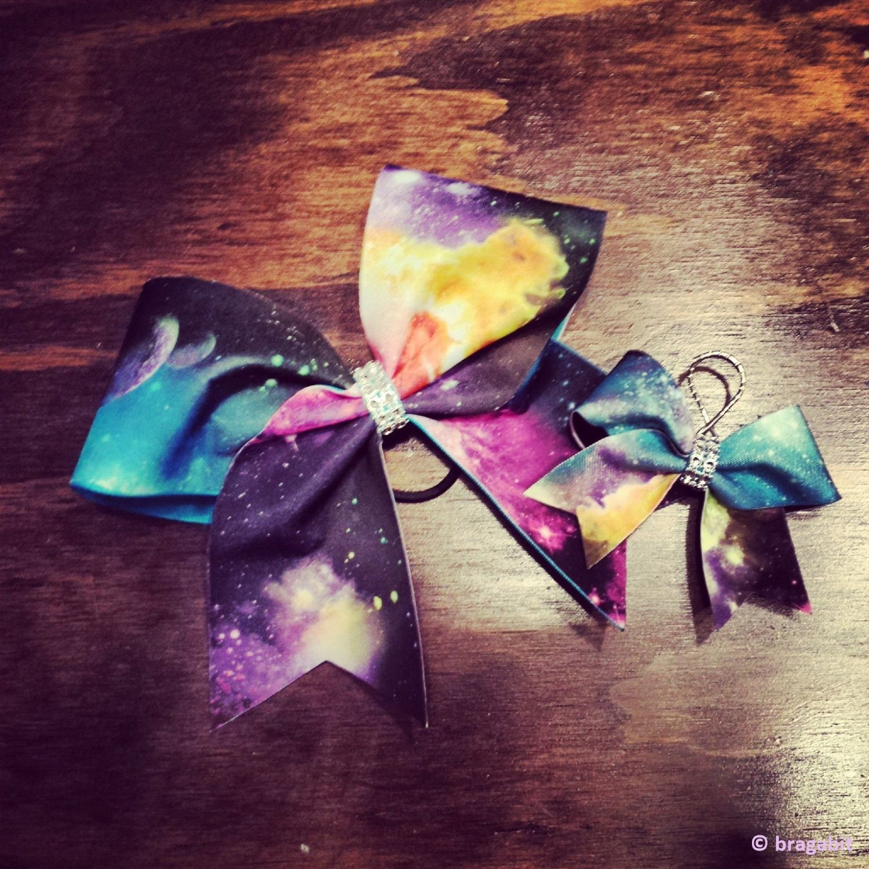 Galaxy cheer bow and keychain | Moños