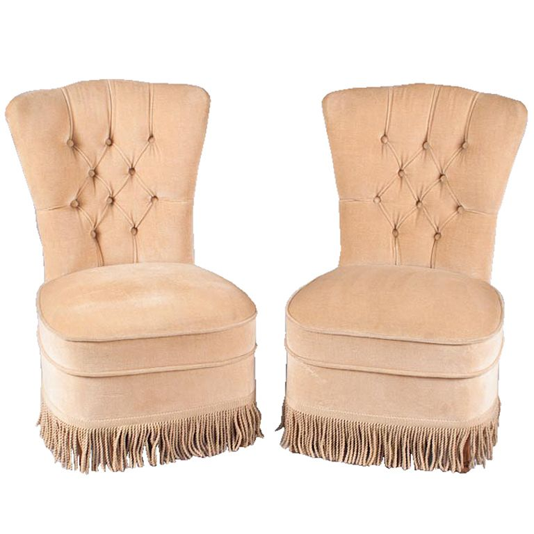 Pair Of French Boudoir Chairs France 1920u0027s A Pair Of 1920u0027s Chauffeuses Or Boudoir  Chair Upholstered