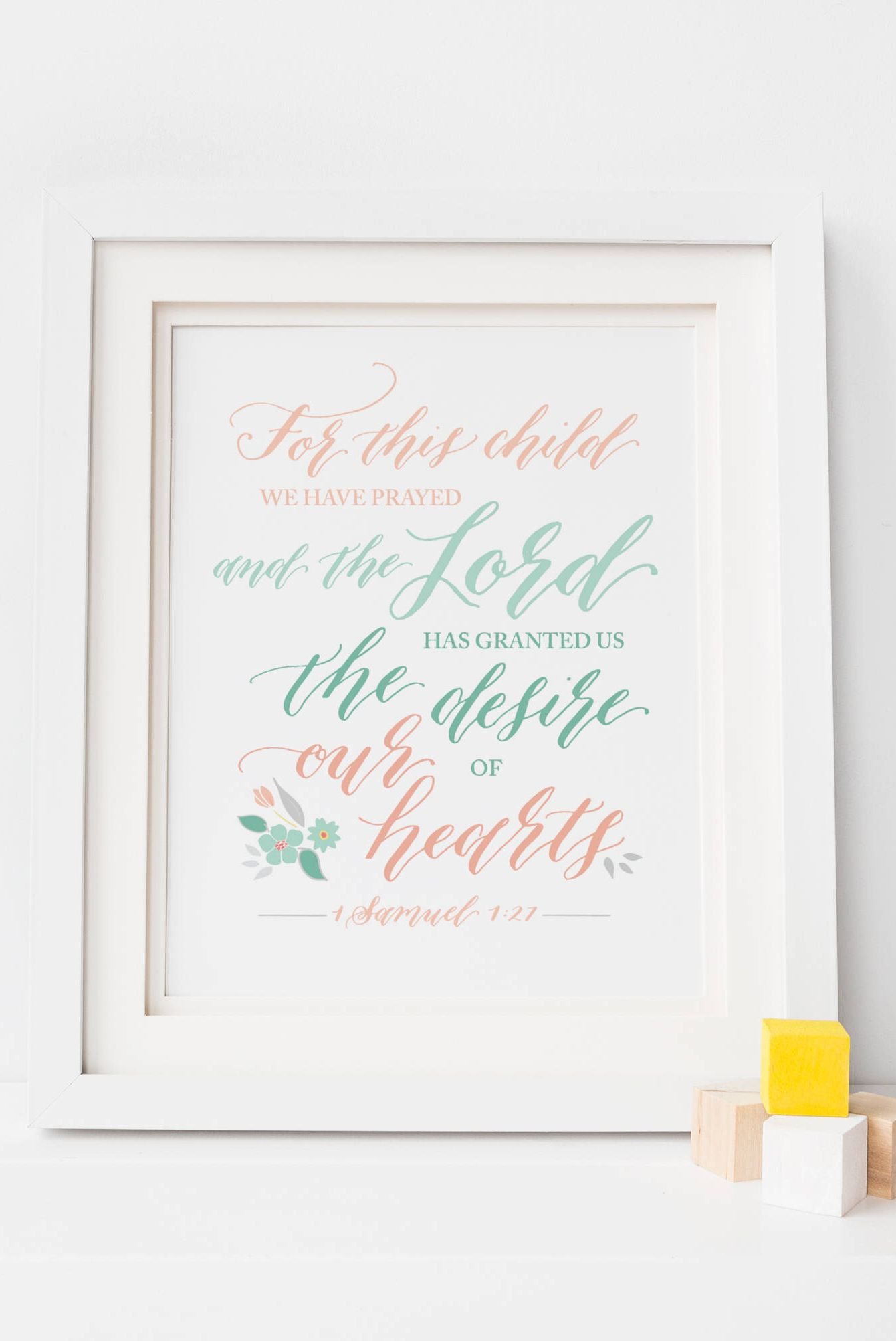 for this child bible verse nursery decor print- meaningful baby gift