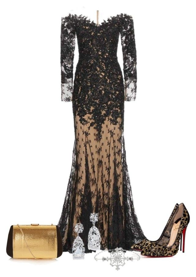 """""""SAG Awards"""" by jeanne-lemaire-romero on Polyvore featuring Zuhair Murad, Christian Louboutin, Nina Ricci, women's clothing, women, female, woman, misses and juniors"""