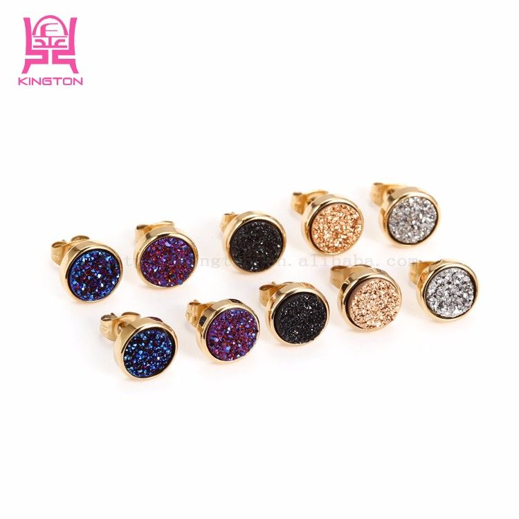 Whole Alibaba Fashion Gold Plated Crystal Earrings Designs S View Funky Kington