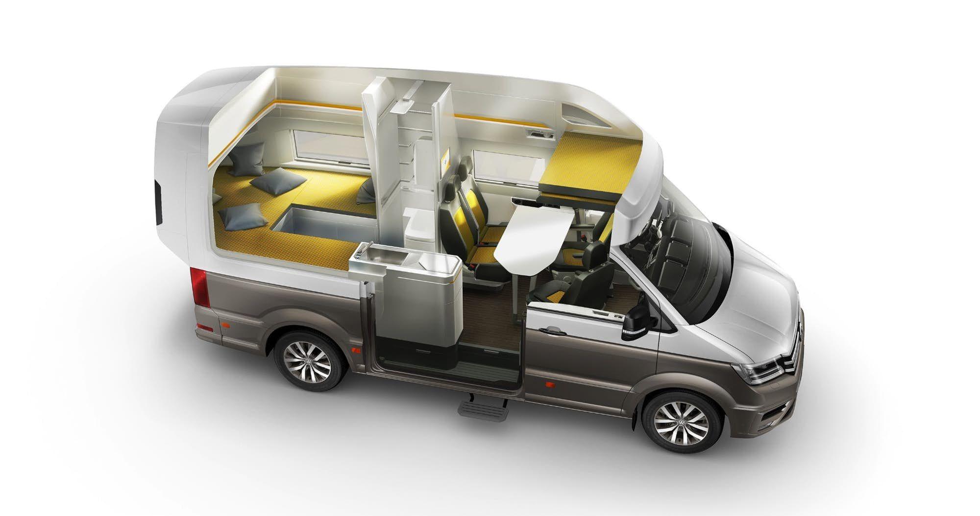 Overview Of The California Xxl Layout Volkswagen Camper Volkswagen Vw Camper