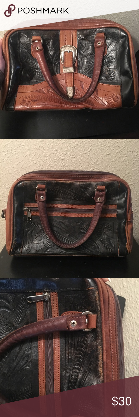 e44cef9dd3df Vintage Western leather hand bag purse doctor I love this bag and sad to  see it