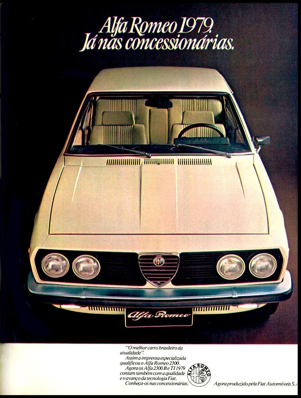 Anúncio Alfa Romeo 1979