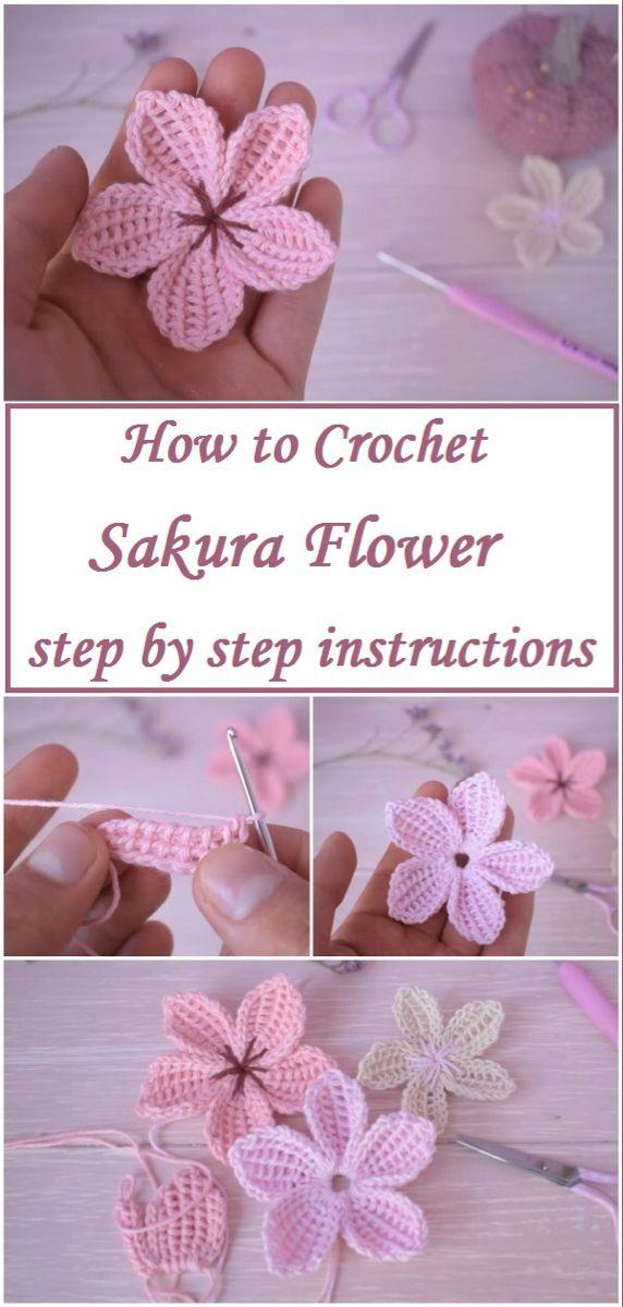 Photo of Crochet Sakura Flower