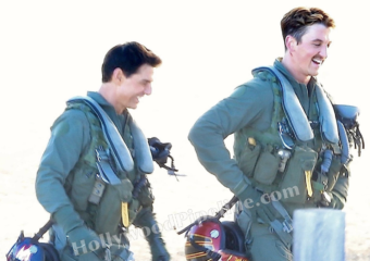 Behind The Scenes Shots Of Tom Cruise And Miles Teller On Location
