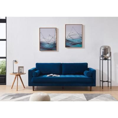 Best Harper Bright Designs Navy Blue Mid Century Modern 400 x 300