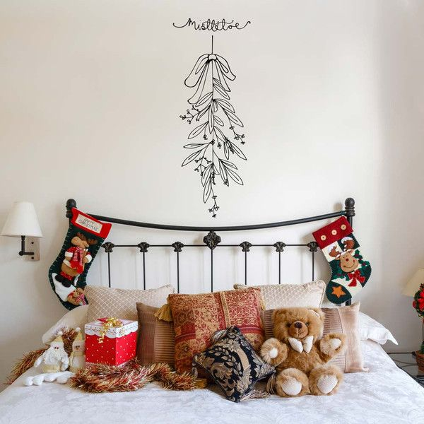 Wwwvinylimpressioncouk This Mistletoe Wall Art Decal Christmas - Custom vinyl wall decals uk how to remove