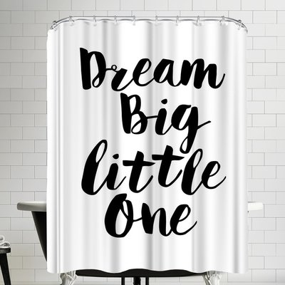 East Urban Home Dream Big Little One Shower Curtain Color White Colorful Curtains Shower Curtain East Urban Home