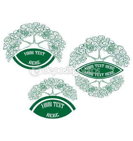 Tree spring green vector nature design by veronika_rumko - Stock Vector