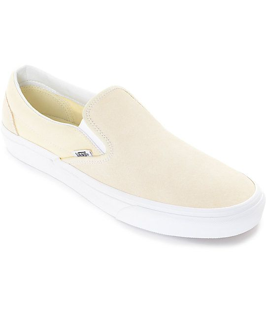 Vans Slip-On Pastel Yellow Skate Shoes in 2018  bd3a4a7f2