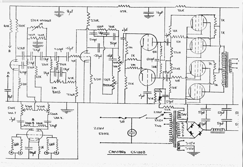Carlsbro Cs 100 B Amp Schematic