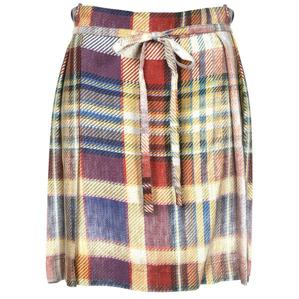 Vivienne Westwood Anglomania Faded Tartan Hope Kilt ($290) ❤ liked on  Polyvore featuring skirts