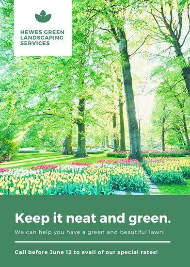Green Garden Photo Lawn Care Flyer | Canva Inspiration | Pinterest