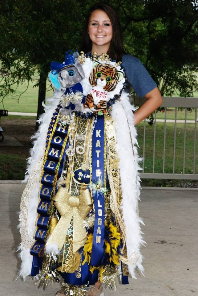 Homecoming Mum School Spirit Over The Top Keller Tx Homecoming