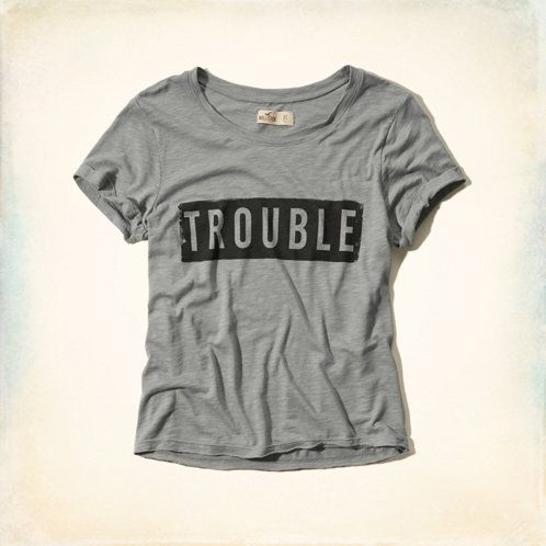 Hollister. Trouble Graphic T-Shirt.