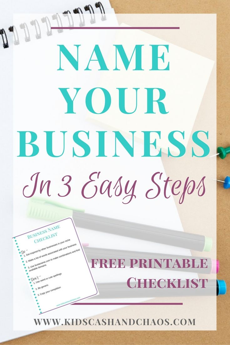 How to Name Your Business in Three Easy Steps - Check out this easy ...