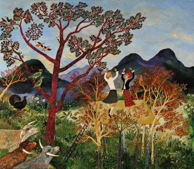 Highland Fling By Anna Pugh Naive Art Cool Paintings Art Uk