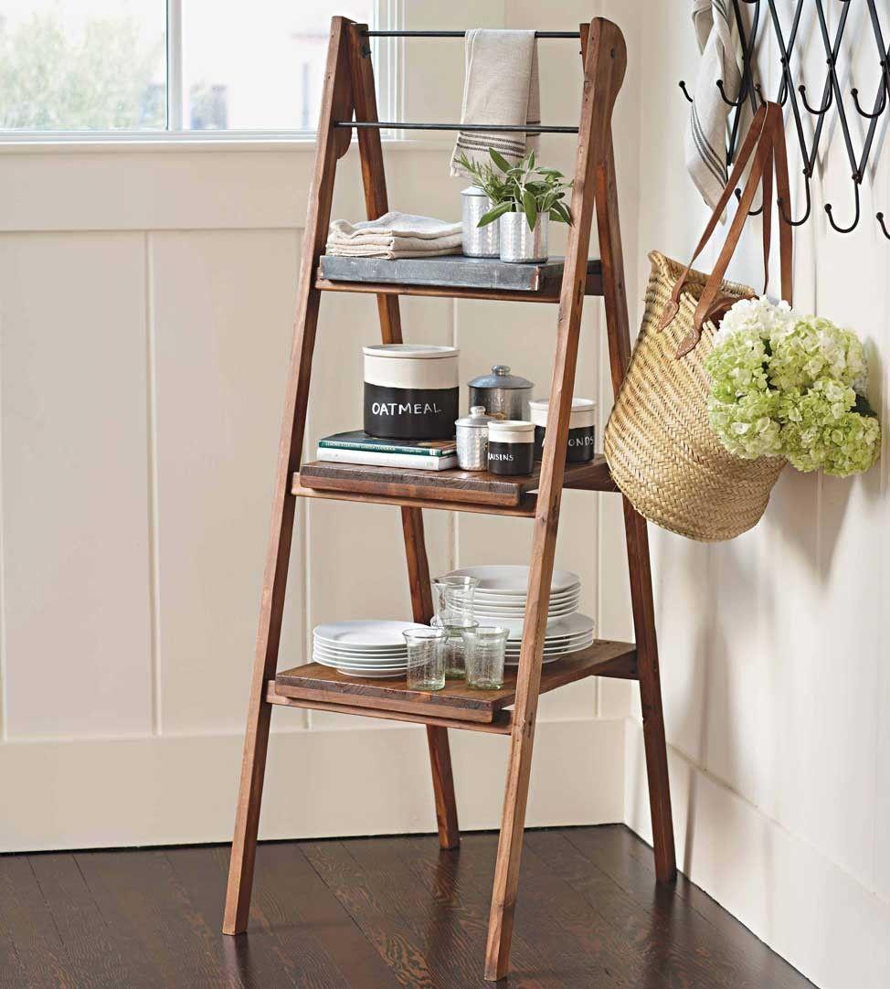 Standing Shelf Ladder vivaterra.com | For the Home | Pinterest ...