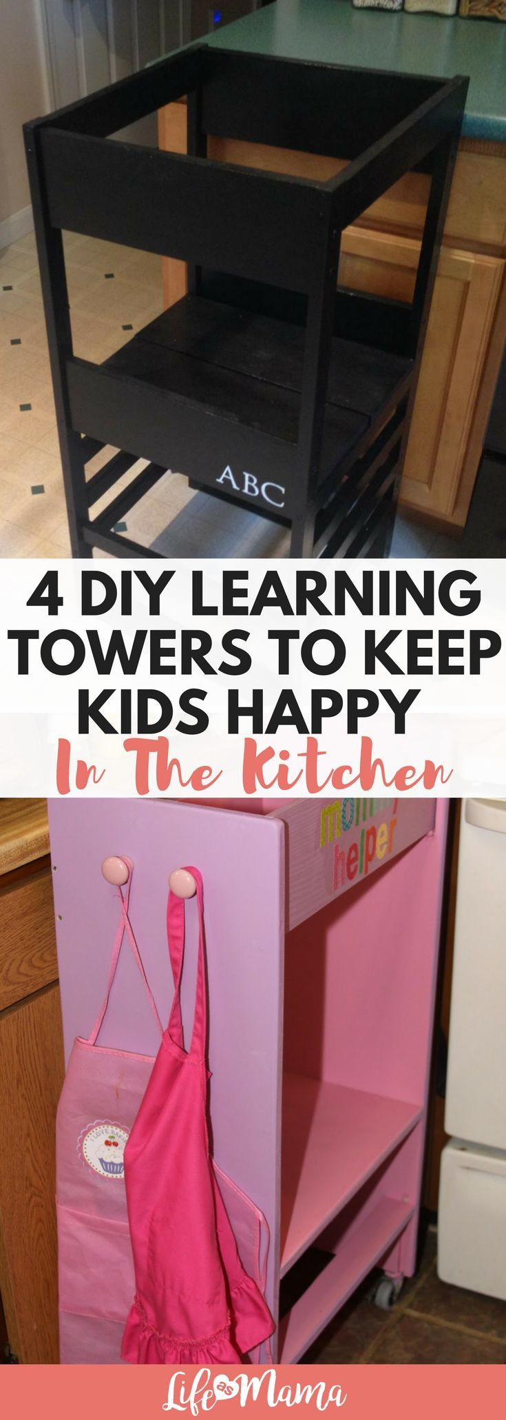diy learning towers to keep kids happy in the kitchen fun things
