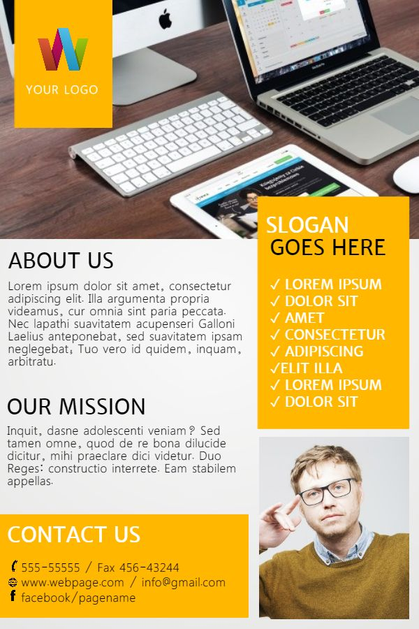 Multipurpose hiring brochure design template Click to customize - software brochure