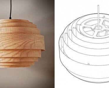 Wood Veneer Boll Lamp Diy Floor Lamp Diy Lamp Wood Veneer