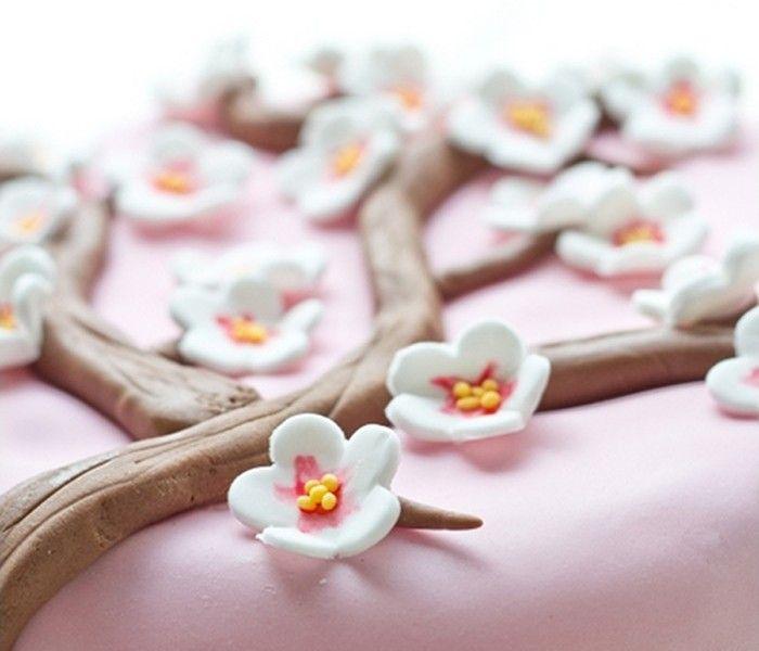 tuto fleurs de cerisier et branches en p te sucre niveau d butant inspiration pinterest. Black Bedroom Furniture Sets. Home Design Ideas