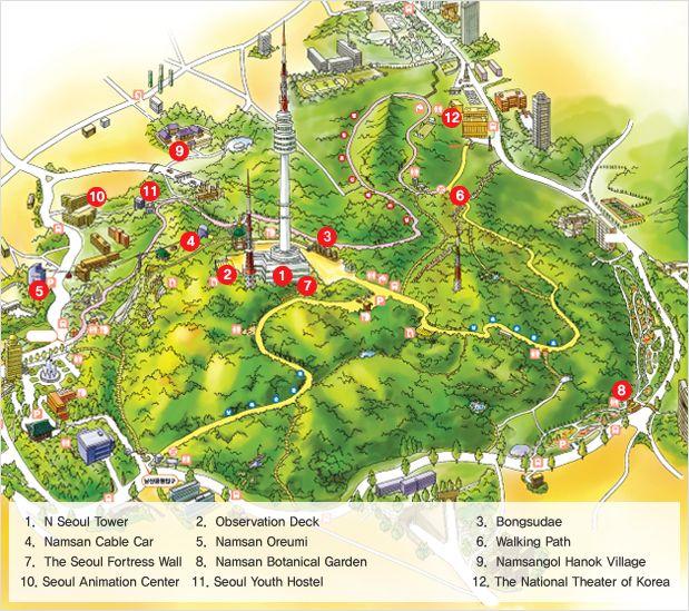Image result for namsan map