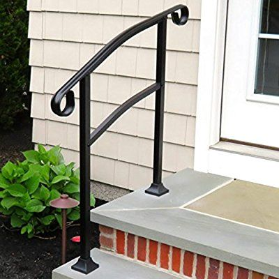Best Instantrail 3 Step Adjustable Handrail Black For Concrete 400 x 300