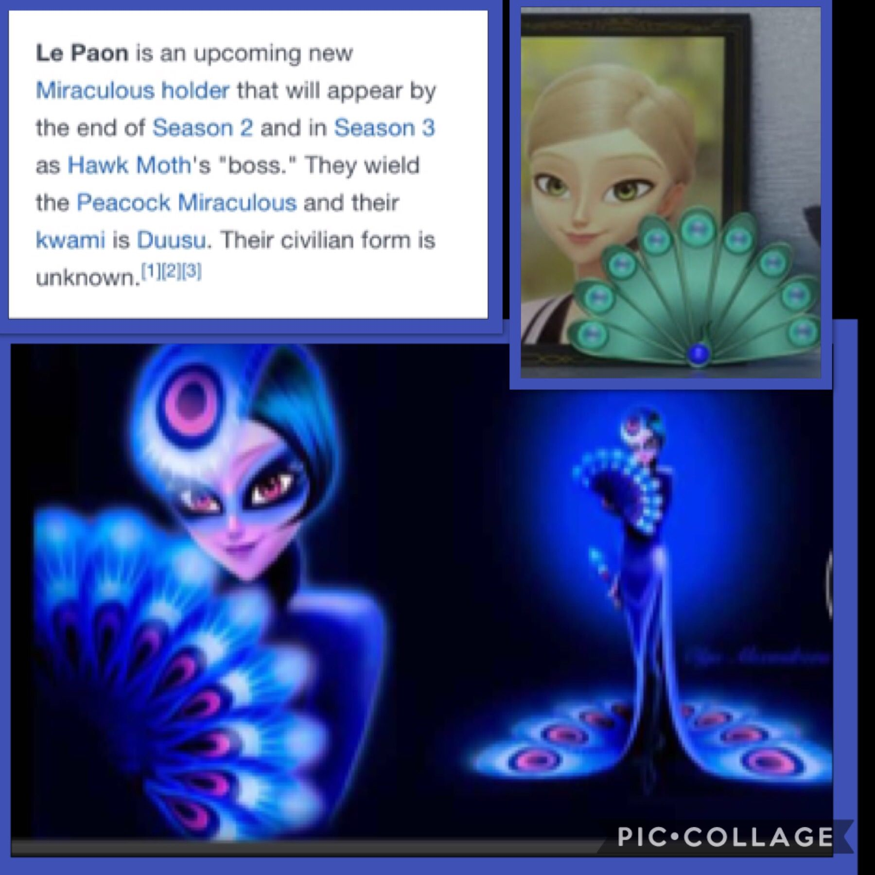 Adrien's mom is the peacock miraculous holder its sooooooo obvious