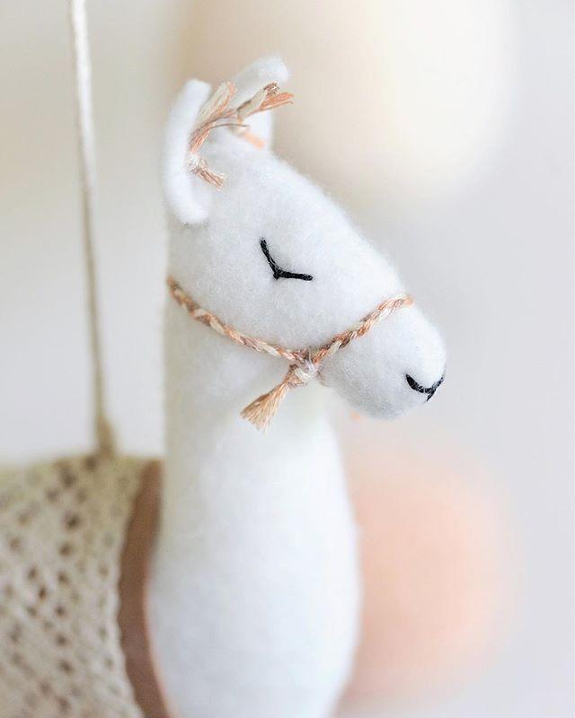 Closeup of latest llama we made #mobilesfrombohobabyheaven