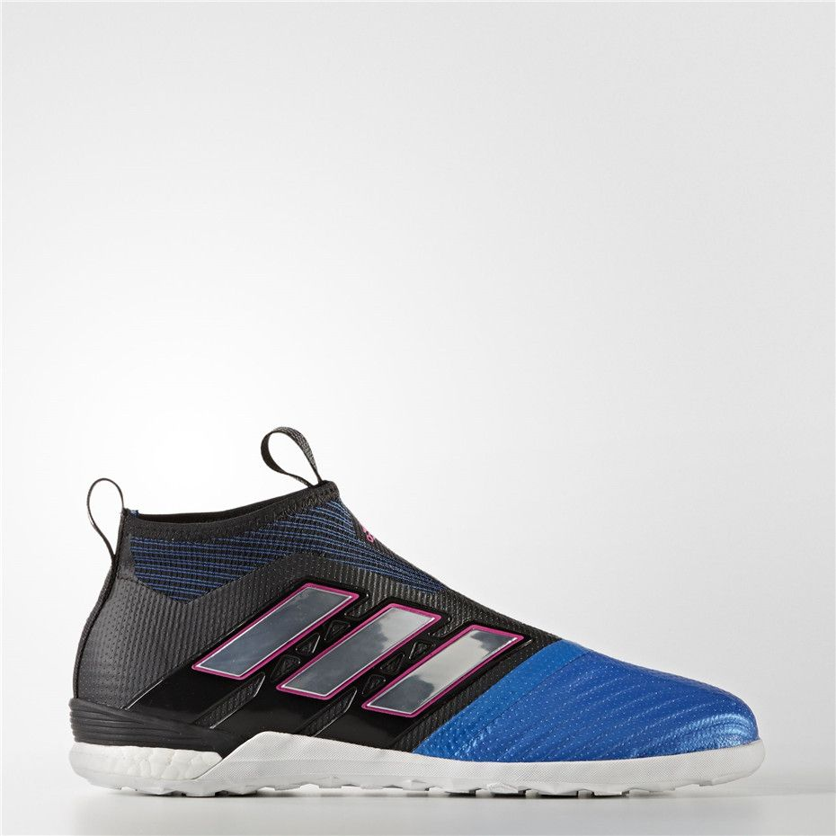 e19148a4f347 Adidas ACE Tango 17+ Purecontrol Indoor Shoes (Core Black / Running White  Ftw / Blue)