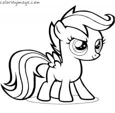 scootaloo and rainbow dash coloring pages - photo #24