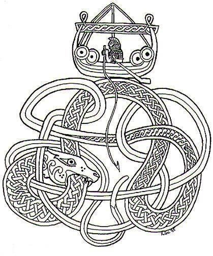 pingl par bland n ragnars ttir sur j rmungand broderie viking tatouage viking et vikings. Black Bedroom Furniture Sets. Home Design Ideas
