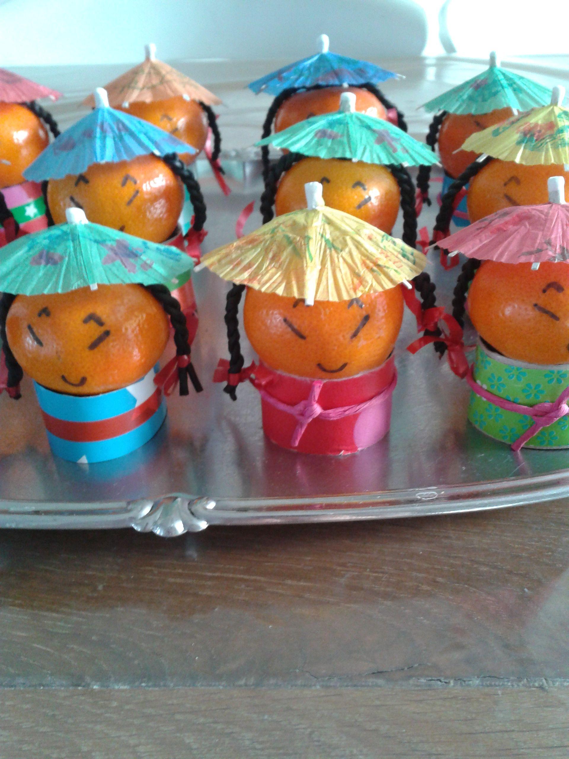 mandarijn poppetjes met dropveter vlechten